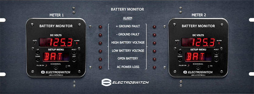 Battery System Monitor Panel